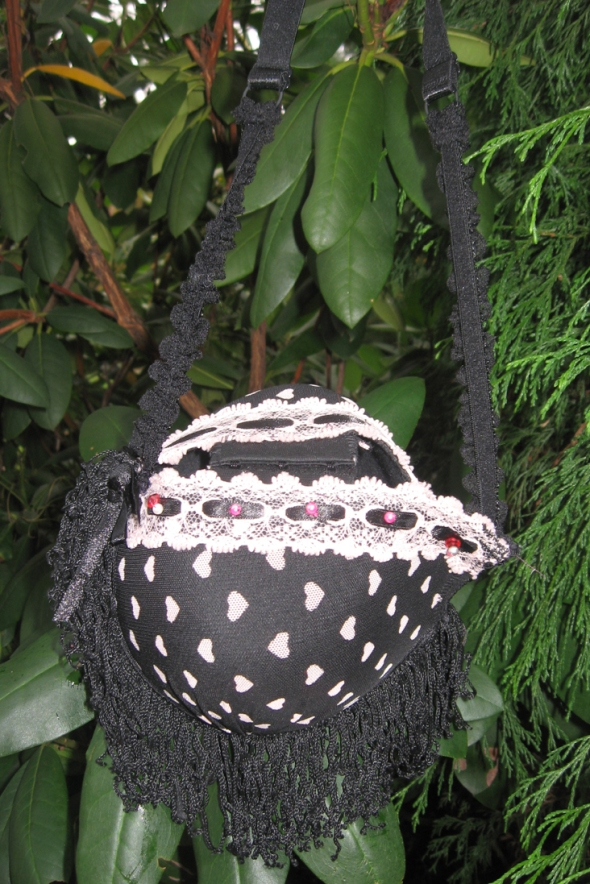 Black Bra Purse